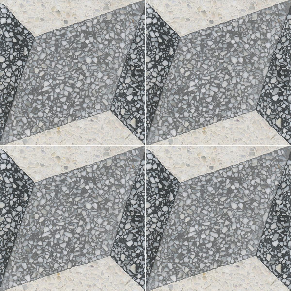 Terrazzo Tile GROSSO Ornament Trapezium Von Replicata