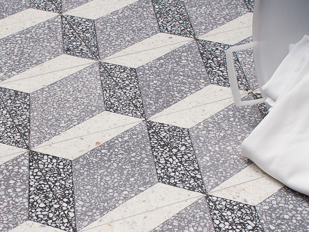 Terrazzo tile GROSSO ornament Trapezium« von Replicata - 200 x 200 x ...