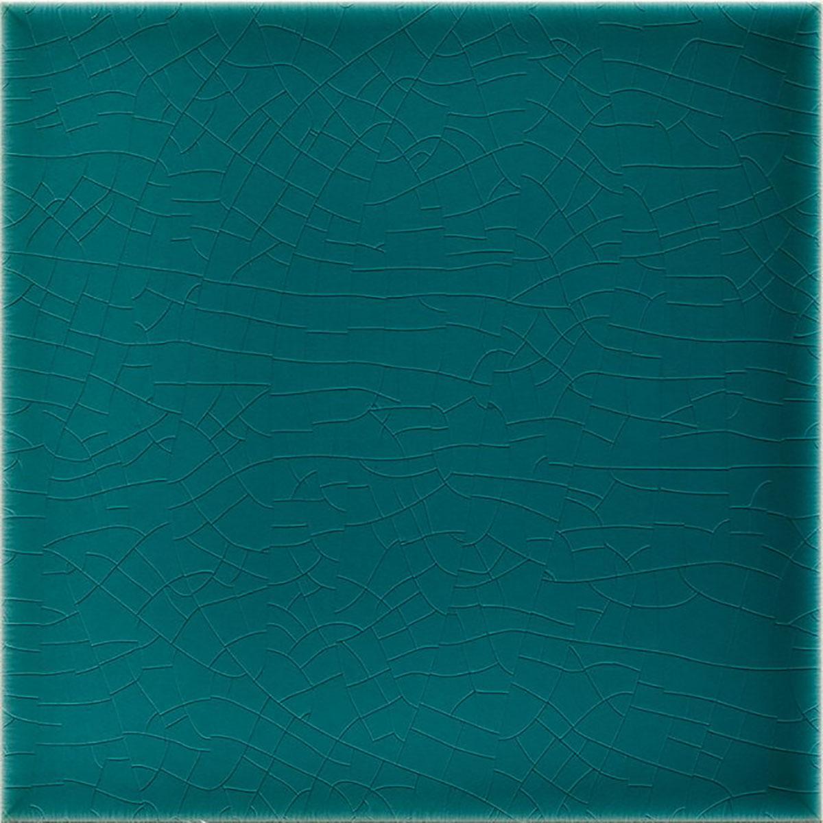»Wall tile Art Nouveau dark turquoise« von Replicata