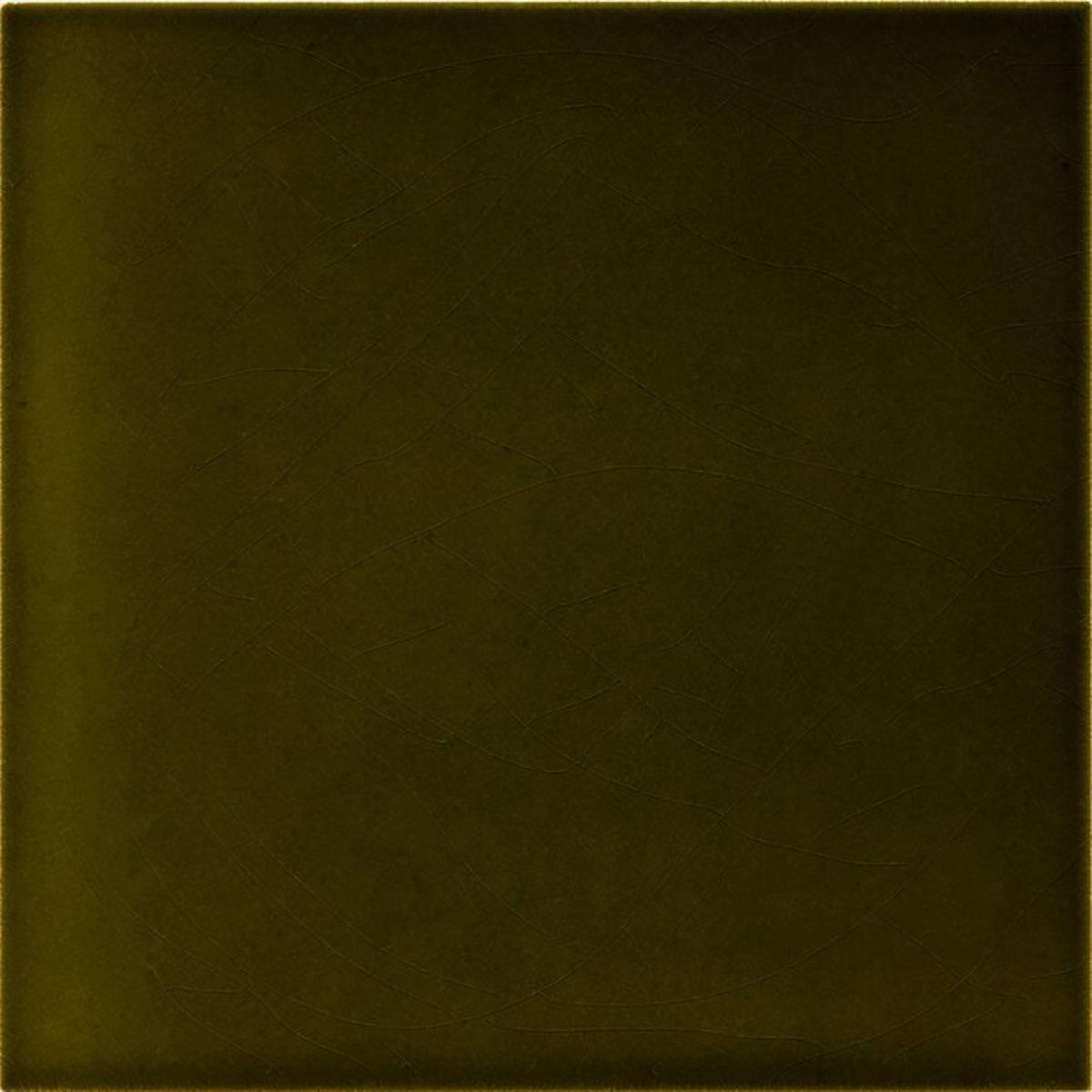 Olive Green Wall: »Wall Tile Art Nouveau Olive Green« Von Replicata