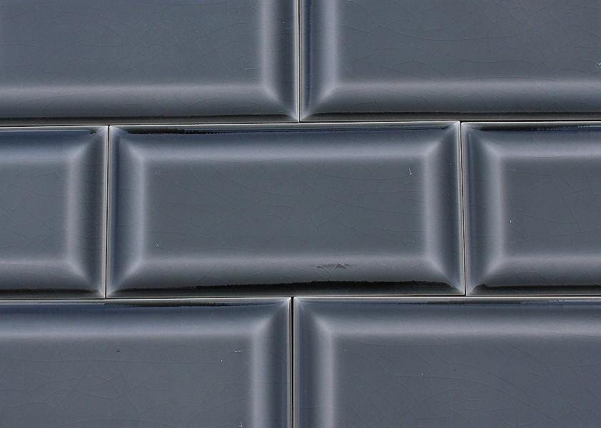 wall tile metro von replicata dark grey craquelling