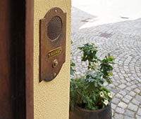 Doorbell plates made of wrought iron