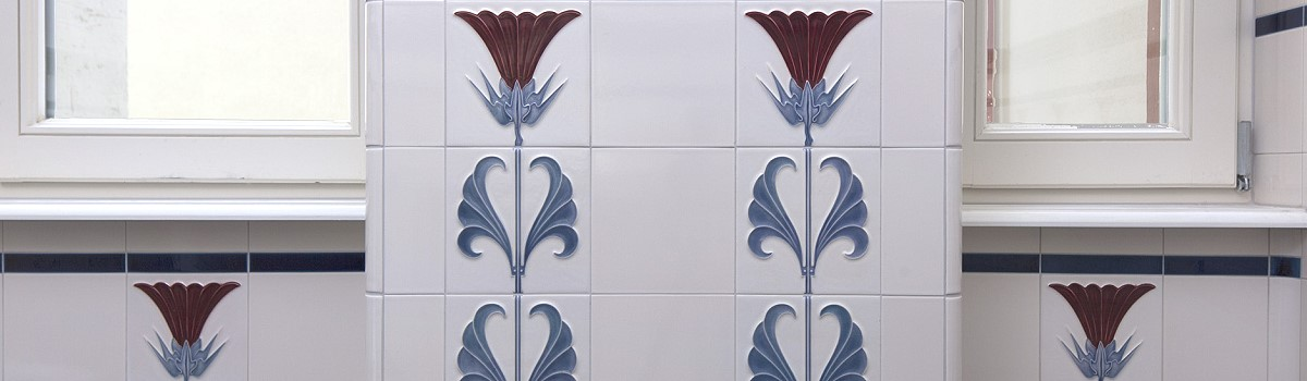 Wall tiles «JUGENDSTIL» by Replicata: Well-formed Reproductions for on art deco wallpaper, motawi tiles, art deco tiles, arts and crafts style tiles, antique tiles, mission tiles, arts and craft era tiles, rose color tiles, vintage scandinavian tiles, arts and crafts period tiles, crafts with 4x4 tiles, delft tiles, arts and crafts movement tiles, tuscan tiles, gustav klimt tiles, moorish tiles, art nuevo lighting, english country tiles, log tiles, wall arts and crafts tiles,