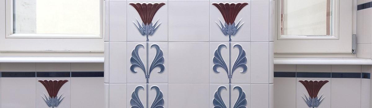 Wall Tiles «jugendstil» By Replicata: Well-formed Reproductions ... Fliesen Bordre Modern