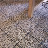 Large format cement floor tile  with refined decor - size 30 x 30 cm