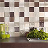 Small format tiles in lucent colours with craquelling glaze - size 10 x 10 cm and 13 x 13 cm