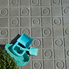 Relief floor tiles for terraces and entry ways - Dimensions 20 x 20 cm or hexagonal