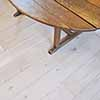 Solid oak floorboards with alternating widths