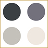 Grey chalk paints available in 60 ml tins and 2500 ml tins