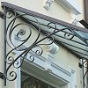 In hot zinc-dipped wrought iron