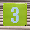Enamel-house number LIMONE - 12 x 12 - one digit - colour Limone
