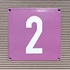 Enamel-house number NUEVO - 12 x 12 - one digit - colour Flieder