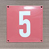 Enamel-house number NUEVO - 12 x 12 - one digit - colour Rosé