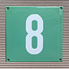 Enamel-house number NUEVO - 12 x 12 - one digit - colour turquoise-green