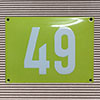 Enamel-house number LIMONE - 14 x 12 - two digits - colour Limone