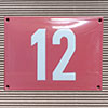 Enamel-house number NUEVO - 12 x 12 - two digits - colour Rosé
