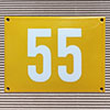 Enamel-house number NUEVO - 14 x 12 - two digits - colour Maize yellow