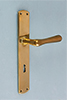 Interior door fitting ART NOUVEAU material: brass massive available with different finishes