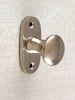 brass, surface: shiny nickel-plated, rose: 25 x 65 mm, knob: 32 mm diameter