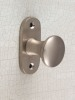 brass, surface: brushed, satin nickel-plated, rose: 25 x 65 mm, knob: 32 mm diameter