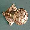 brass, available with different finishes, diameter of the door knob 45 mm, rose 62 x 62 mm