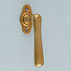 window handle Art Nouveau brass