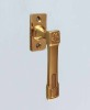 material: brass massiv, , available with different finishes, , including:, spindle 7/7 mm and metric screws M5, , dimensions:, length of the handle 110 mm, width rose 30 mm, length rose 60 mm