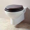 wall-mounted pan, toilet seat has to be ordered, additionally