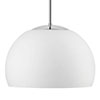 triplex-opal glass silk mat or shiny, pendant shiny chrome-plated, , diameter lamp: 350 mm, height lamp: 230 mm, length pendant: 300 or 800 mm, , IP 23, E 27 metal bulb fitting with ceramic, counter ring (max. 100W)