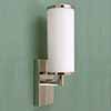 material:, chrome-plated brass, glass cylinder out of triplex-opal glass, , dimensions:, diameter glass 140 mm, overall height 315 mm, overall overhang 240 mm, wall fixation 150 x 80 mm, , bulb fitting: E14 / max. 40 W, protection class IP20