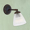Wall lamp ADARE - holophane glass shade - brass - different finishes