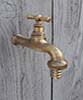 Water tap large brass polished unvarnished