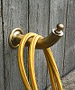 for garden hose, brass, patinated, length 200 mm, height 120 mm, diameter 38 mm, Mounting rose diameter 80 mm