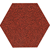 Terrazzo tile UNI - Series Tierra -  hexagonal Ø20 - red