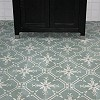 Cement floor tile with crystal ornament