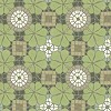 Cement floor tile with leaf ornament
