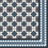 Cement floor tile with geometrical ornament