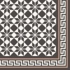 Cement floor tile with star ornament