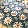 Cement floor tile BELLIS flower