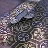 Cement floor tile with flower ornament
