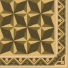 Cement floor tile with cubic ornament