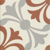 Stoneware tile ARTHAUS LILIE tri-coloured
