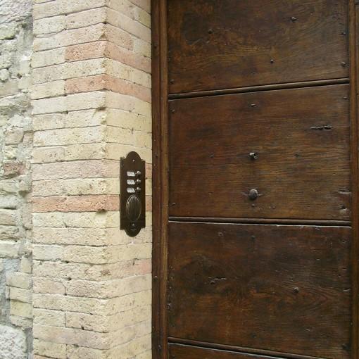 ... Italienische Klingelplatte Sondermodell ~ Oberfläche Messing Poliert  Mit Natürlich Sich Ausgebildeter Patina Nach Einbau ~ Italian ...