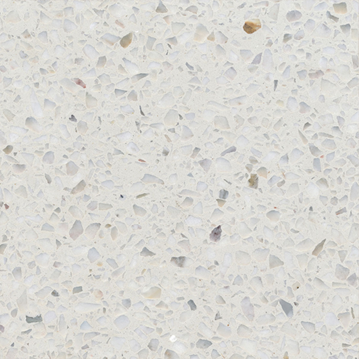 Terrazzo tile GROSSO, white« von Replicata - 200 x 200 x 18