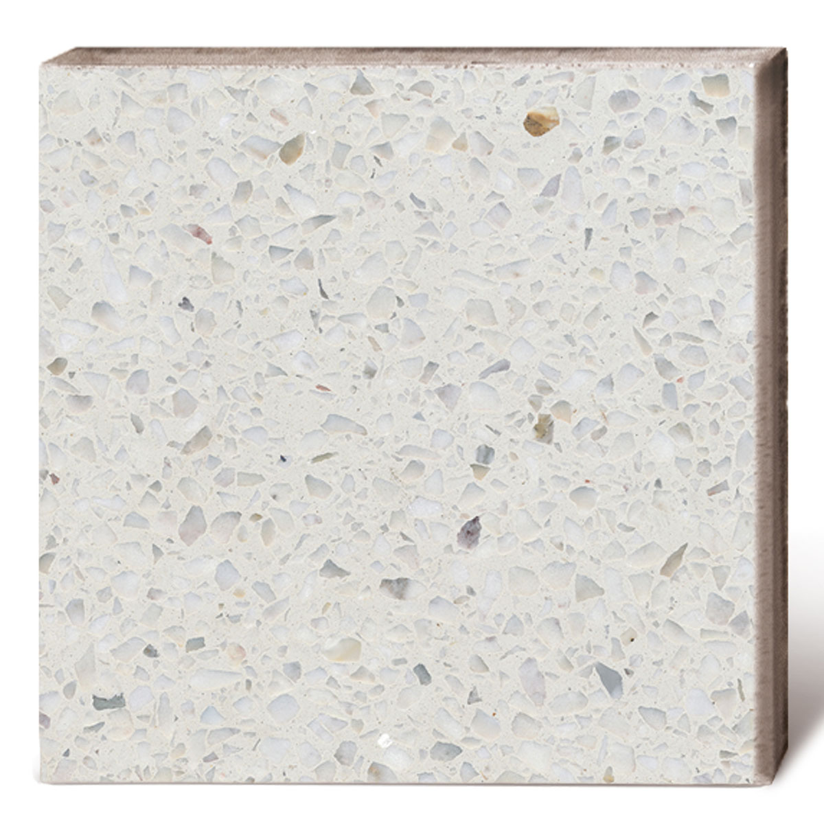 Terrazzo Tile GROSSO White Von Replicata
