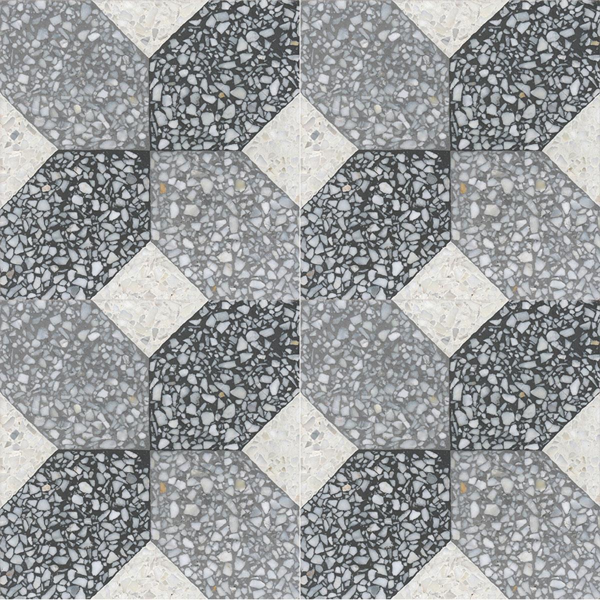 Terrazzo tile GROSSO ornament Bar« von Replicata - 200 x 200 x 18 mm ...