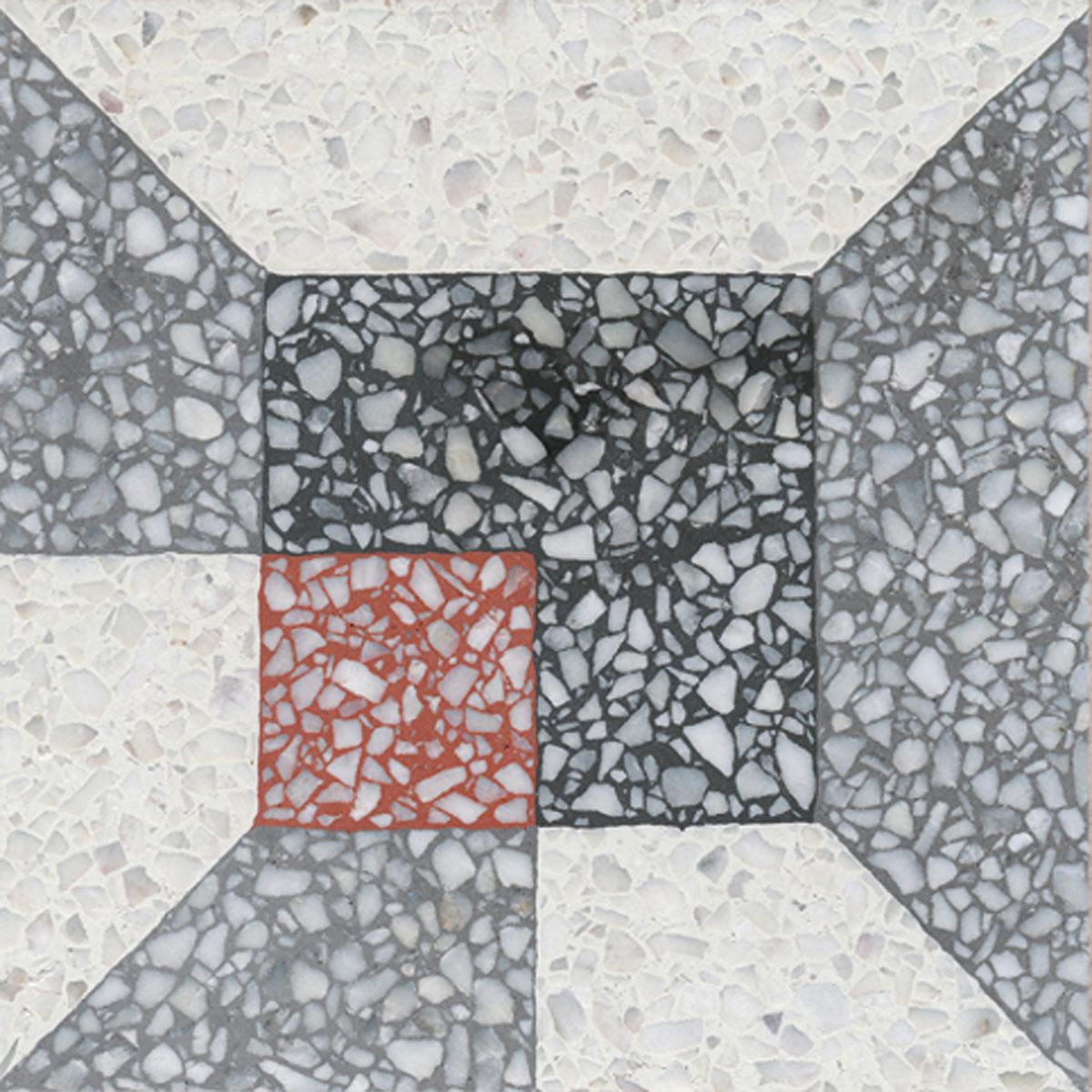 Terrazzo tile GROSSO ornament Werkbund« von Replicata - 200