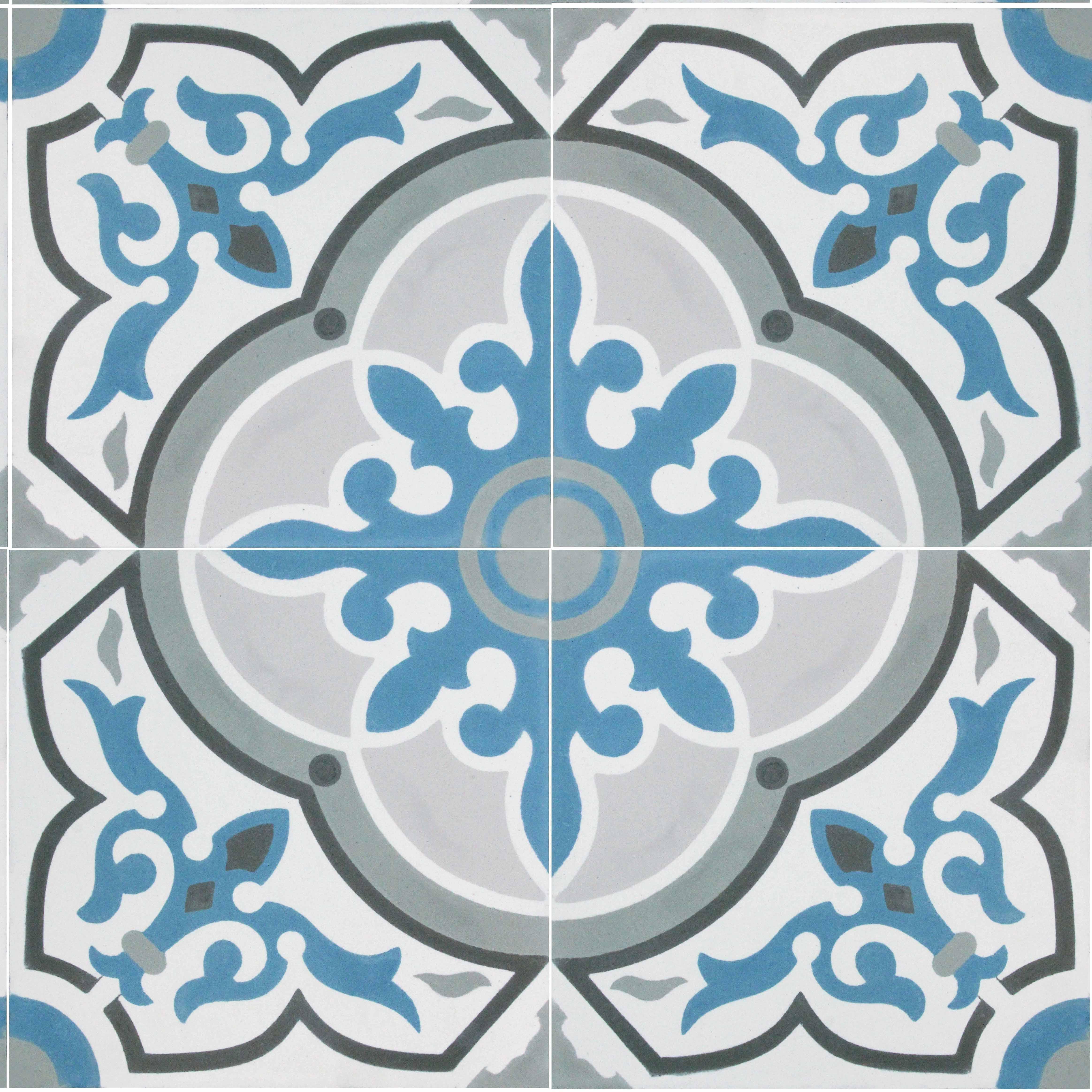 Cement Floor Tile Fina Von Replicata Multicoloured Decors Replikate
