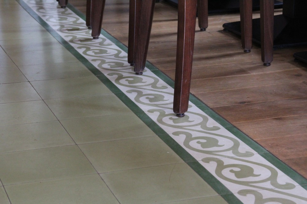 Cement Floor Tile Single Coloured Light Green 21 Von Replicata