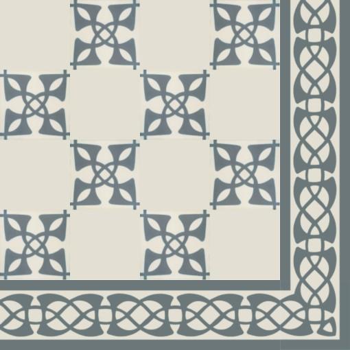 Cement Floor Tile Ornament Art Nouveau Von Replicata 141 X 141 X
